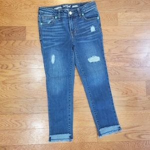 Girls destroyed jeans